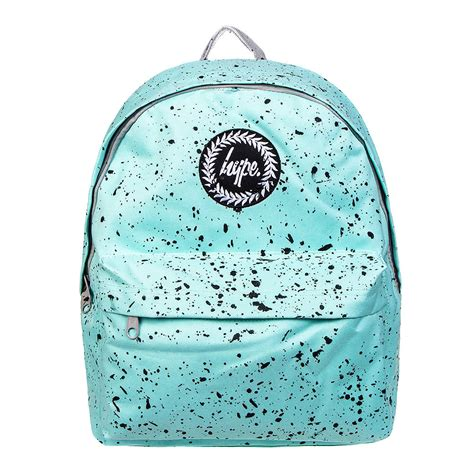 Hype Speckle Backpack by Hype Mint Black Speckle Backpack Hype School Bag Rucksack