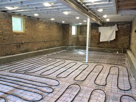 pex on mesh radiant floor slab basement floor prep plastic mesh and pex two flat