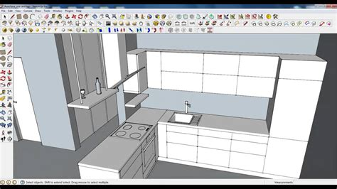 google sketchup castle tutorial google sketchup tutorial part 03 kitchen modeling