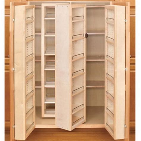 Wood Pantry Shelving Systems Swing Out Complete Pantry System Rev A Shelf 4w Series