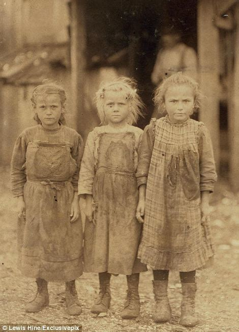 Lewis hine harrowing images of child labourers that show children as young as three forced to