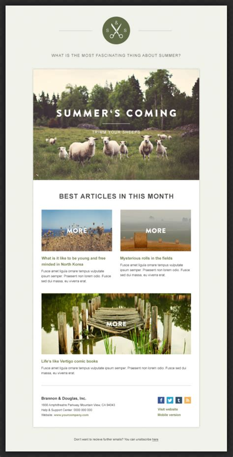 email newsletter layout green village newsletter beautiful email newsletters