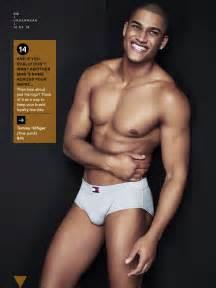 Male model rob evans helps men shop for underwear in sexy gq spread