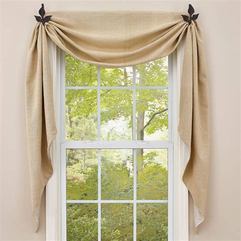 swag curtains images country curtains crawford flax fishtail swags