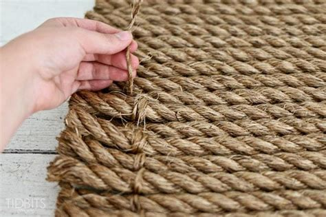rope rug from rope to rug a diy tutorial tidbits