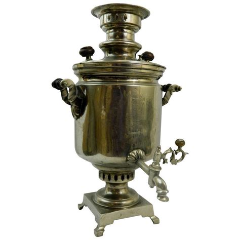 Circa 1825 Silver Russian Samovar For Sale at 1stdibs