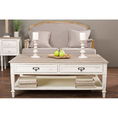 dauphine white coffee table rcwilley image1 800 jpg