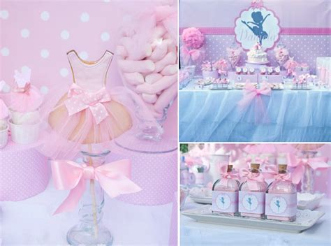 girl dance themes candy bar for christening girl party