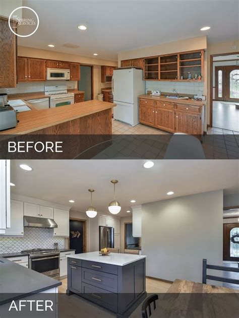 before and after home renovations with cost justin carina s kitchen before after kitchen