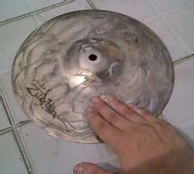 Pembersih Cymbal tips merawat drum set membersihkan cymbal stevenjtr
