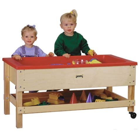 jonti craft toddler height sensory table w shelf 2866jc