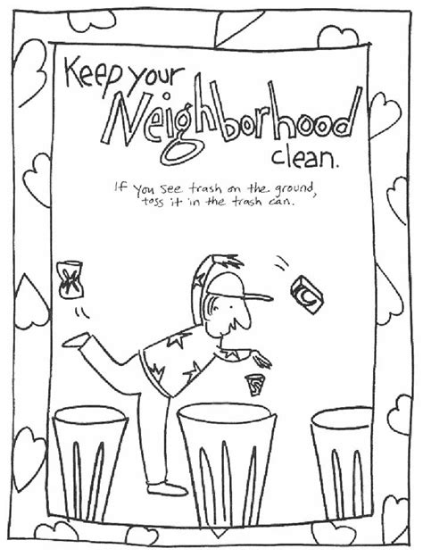 trash can coloring pages printable coloring pages