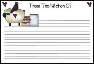 free printable recipe page template printable recipe cards pour tea and coffee page 2