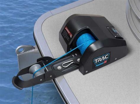 trac electric boat anchor winch trac pontoon 35lb electric anchor winch black freshwater