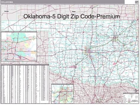 oklahoma zip codes map oklahoma zip code map from onlyglobes