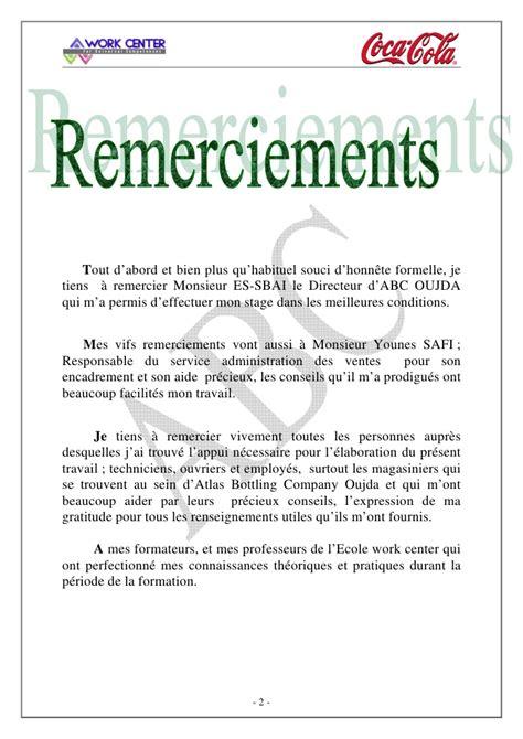 Lettre De Remerciement Stage Pdf Abc Rapport De Stage