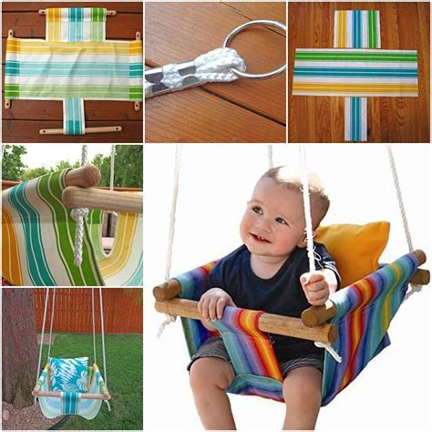 swinging a baby make hammock style canvas diy baby swing beesdiy com