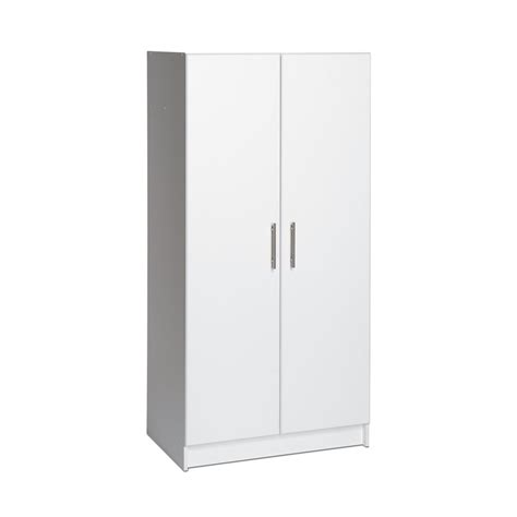 White Wardrobe Storage Cabinet Shop Prepac Furniture Elite Home Storage White Armoire At