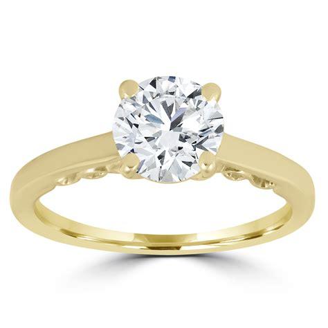 1 ct brilliant solitaire engagement ring 14k