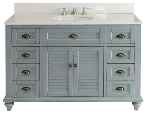 Cottage Bathroom Vanities Glennville Cottage Vanity Cabinet Set Light Blue 49 Quot Farmhouse Bathroom Vanities And Sink Consoles
