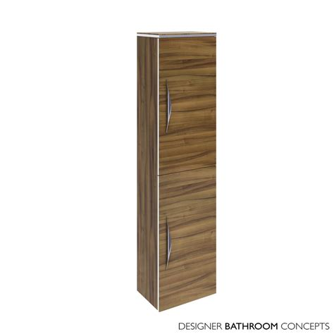 wall hung bathroom cabinets uk memoir designer tall wall hung bathroom cabinet gloss walnut