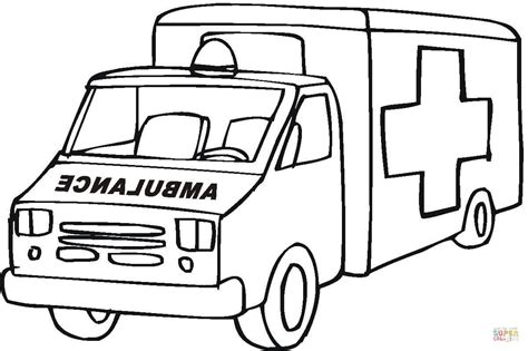 ambulance coloring pages ambulance emergency car coloring page free printable