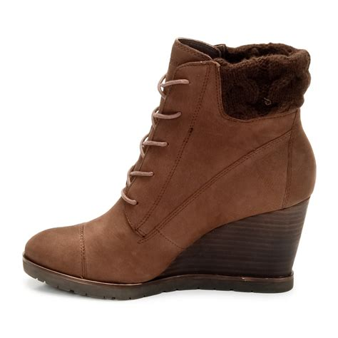 wedge brown boots womens brown wedge boots images