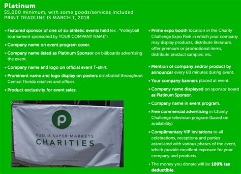 challenge inc platinum sponsorship level charity challenge inc