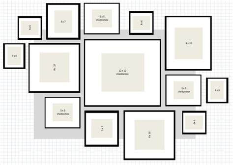 wall gallery template ikea frame layout ideas home garden design