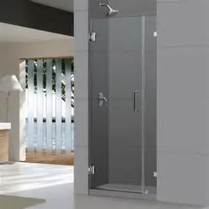 home depot shower doors frameless dreamline unidoorlux 30 in x 72 in frameless hinged