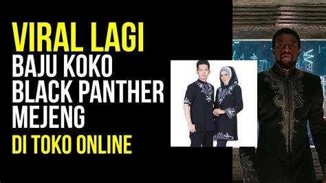 Baju Koko Black Panther Tanah Abang baju koko black panther