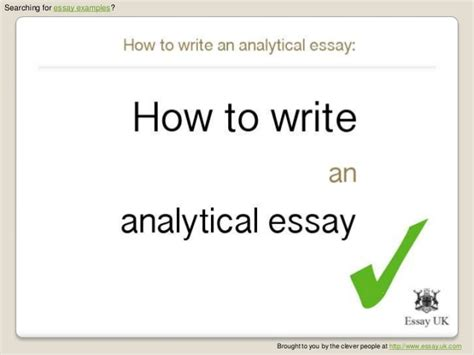 How Can I Write A Essay by How To Write An Analytical Essay Essay Exles