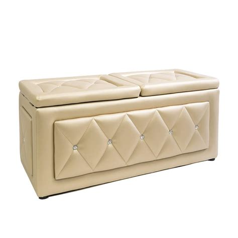 vanity storage bench impressions vanity co marianne crystal tufted vanity