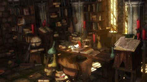 room fantasies magician library wallpapers and images wallpapers