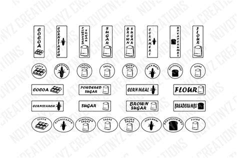 kitchen labels svg pantry labels svg canister labels svg