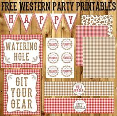 free printable western party decorations cowboy party favors cowboy party and party favor tags on