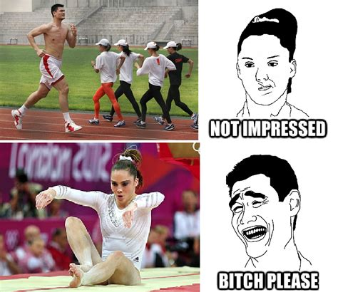 Bitch I Might Be Meme - mckayla not impressed vs yao bitch please yao ming