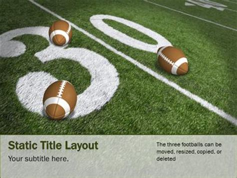 Football Field A Powerpoint Template From Presentermedia Com Football Field Powerpoint Template