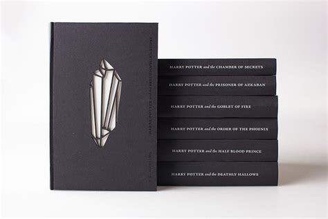 libro the graphic design idea artist redesigns harry potter book covers with a new glow in the dark look