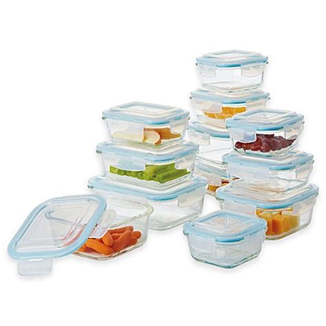 Moorlife Baby Meal Box Sale pro glass 24 food storage set with easy snap lids