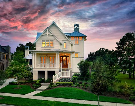 classic lowcountry cottage style house  elevated