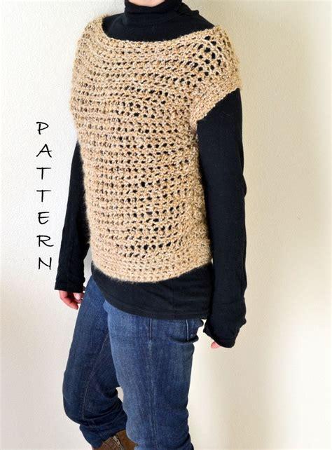 crochet boat neck sweater pattern crochet openwork boat neck sweater pdf pattern
