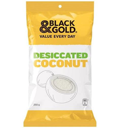 Dessicated Coconut 250g black gold desiccated coconut 250g delights