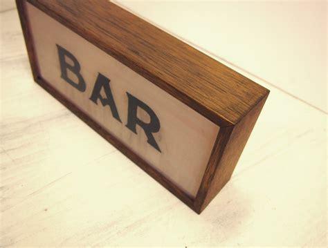 light up bar signs hand lettering bar vintage wooden lightbox sign light