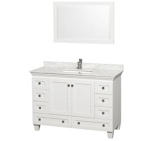 wyndham collection acclaim 48 in vanity in white with