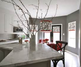 Accent Color For White And Gray Kitchen by Shantung Silhouette Smoke Contemporary Kitchen