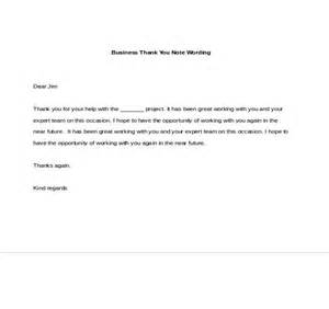Business Letter Notes business thank you notes free sample example format download
