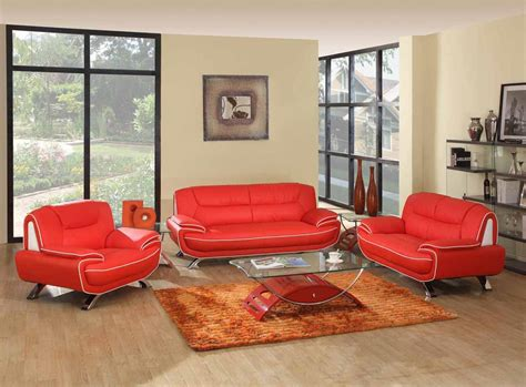 red living room set 2 pcs red living room set