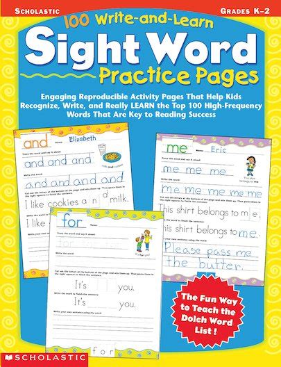 100 write and learn sight word practice pages 100 write and learn sight word practice pages scholastic