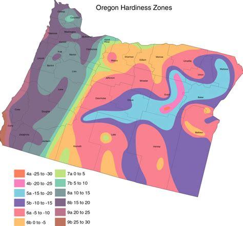 garden zones oregon oregon cropmap